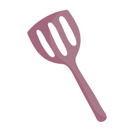 cooking spatula utensil cutlery in cartoon style vector illustration  イラスト・ベクター素材