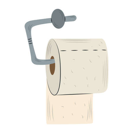 toilet paper hygiene hanging roll isolated design vector illustration