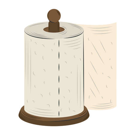 cartoon kitchen paper towel isolated design vector illustration Ilustracje wektorowe