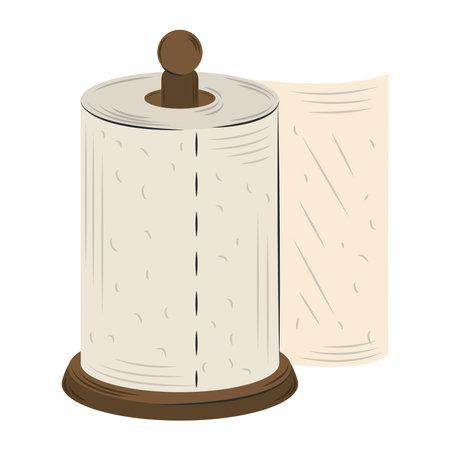 cartoon kitchen paper towel isolated design vector illustration Vektorgrafik