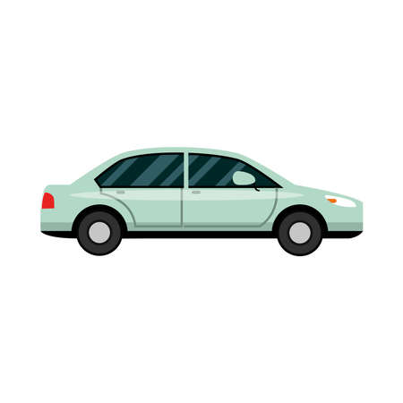 car transport vehicle side view, car icon vector illustration