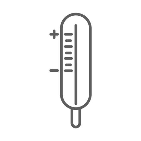 medical thermometer measure vector illustration line icon white background