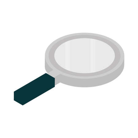 magnifier glass research isometric icon