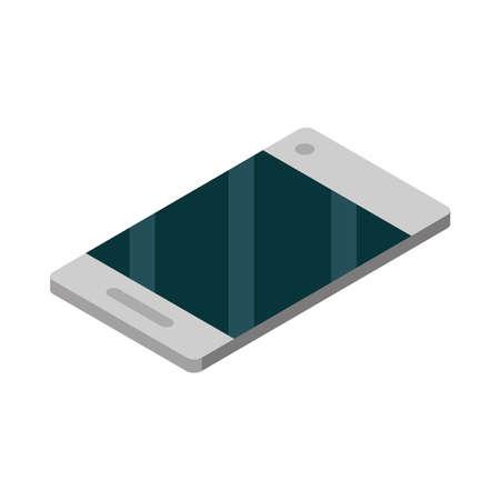smartphone device digital technology isometric Illusztráció
