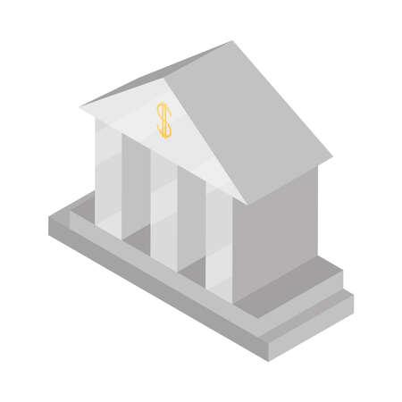 bank money investment saving isometric