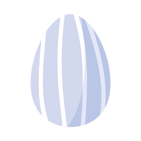 easter egg stripes decoration isolated Illusztráció