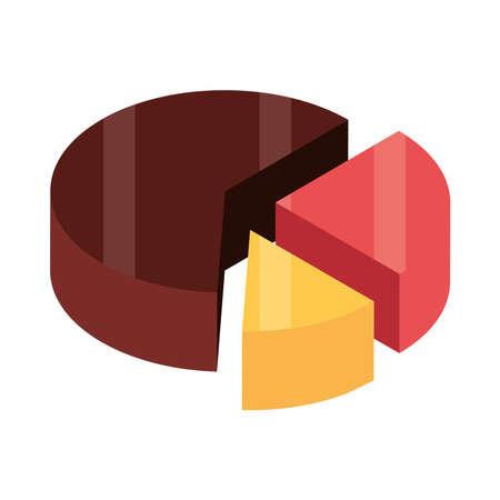 financial chart report progress isometric Illusztráció