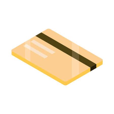 bank credit card money isometric Illusztráció