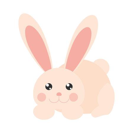 cute rabbit cartoon animal isolated