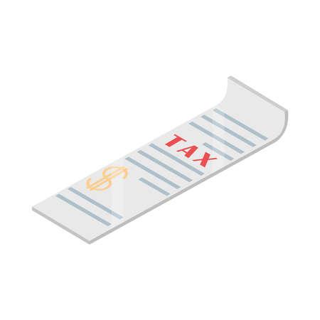 tax payment voucher finance isometric