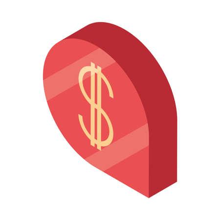 money finance economy bubble isometric