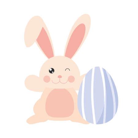 easter rabbit wink and egg Illusztráció