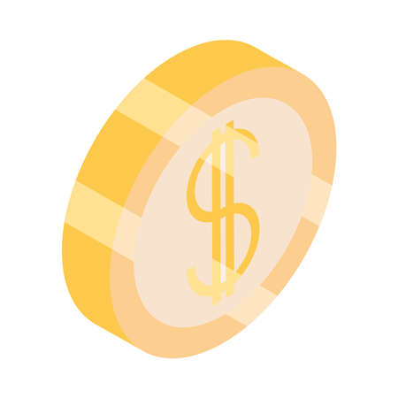 coin money currency cash isometric