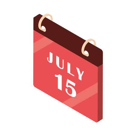 calendar reminder date month isometric