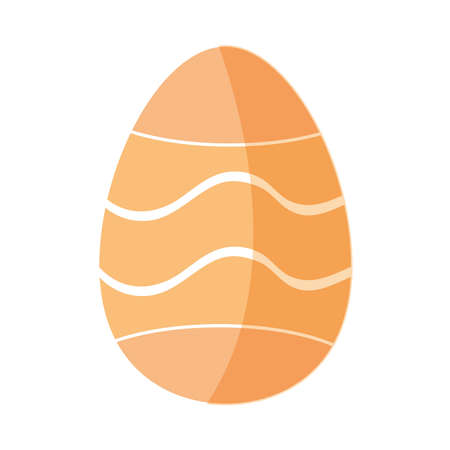 easter egg decoration lines isolated