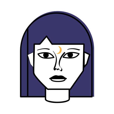 woman abstract face surreal artistic Illusztráció