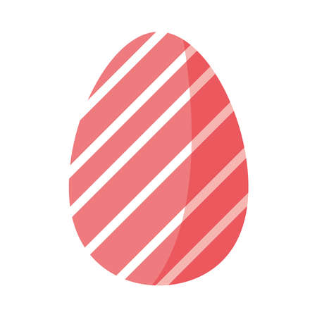 easter red egg stripes isolated