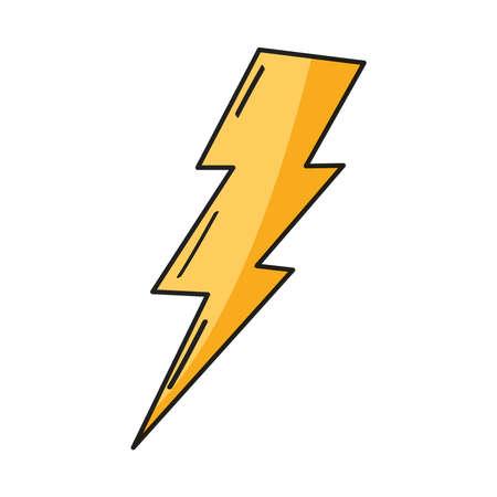 thunderbolt power energy icon isolated