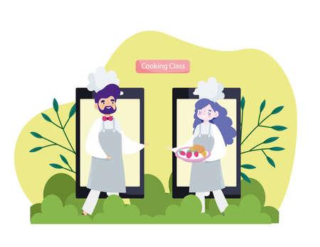 online cooking class chefs smartphone