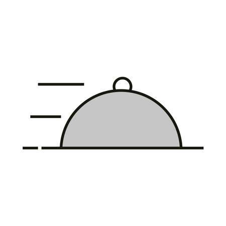 delivery food service icon isolated