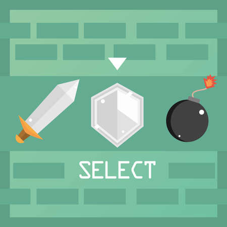 video game select weapon button