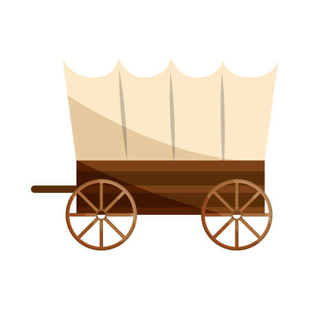 old west carriage icon isolated Vetores