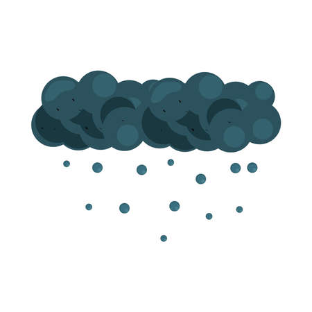 cloud raindrops natural design isolated 向量圖像