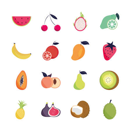 tropical fruits exotic nature organic