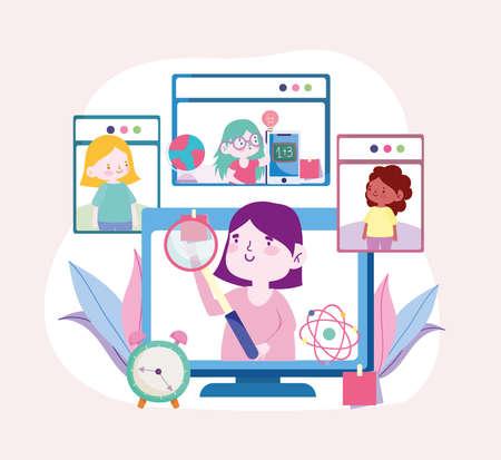 online education elearning class digital