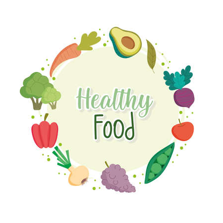 healthy food fruits vegetables banner