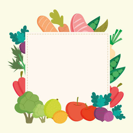 healthy food harvest fresh banner Ilustrace