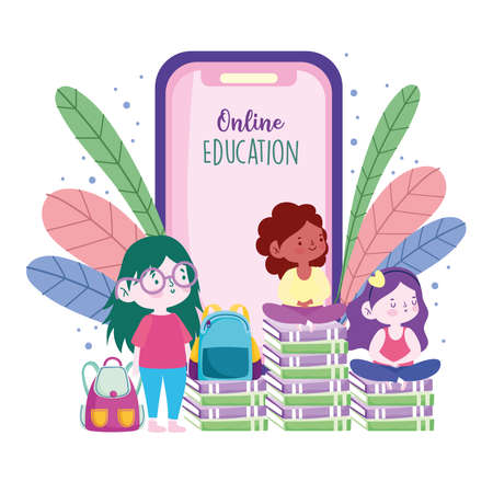 online education students books mobile