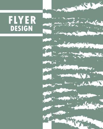 flyer design grunge figures pattern