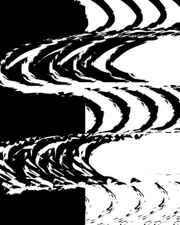 black strokes grunge captivating trendy Ilustração