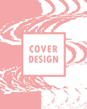 cover design drawing abstract shapes Stock Illustratie