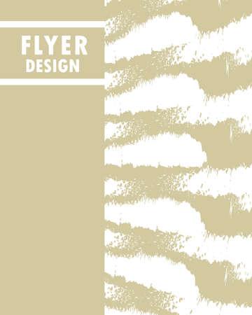 flyer design abstract grunge style Ilustração