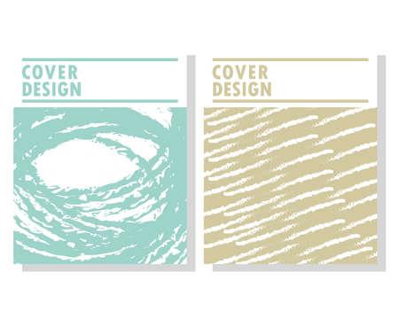 set cover design minimalist abstract Stock Illustratie