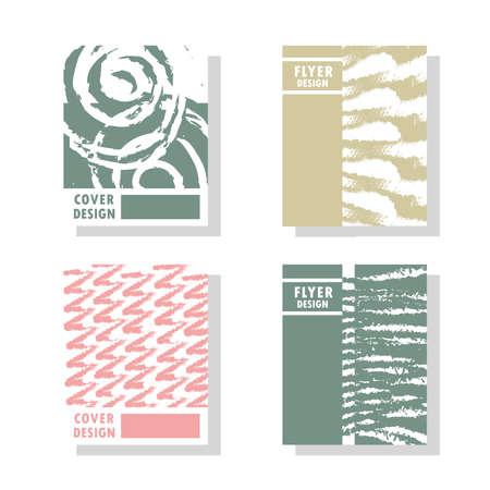 grunge abstract shapes cover design Ilustração