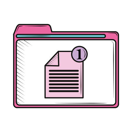 retro window interface file isolated Stock Illustratie