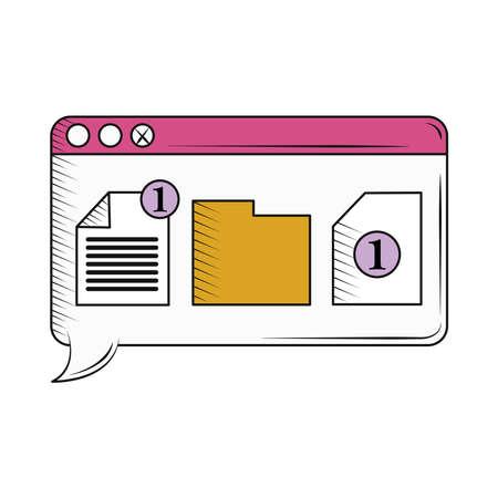 retro folder file website data