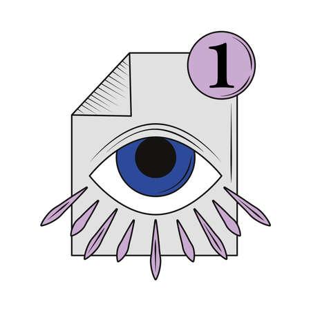 retro futuristic document file isolated