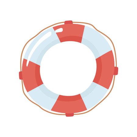 lifebuoy nautical martime isolated icon Ilustración de vector