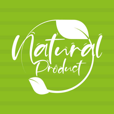 natural product text green background