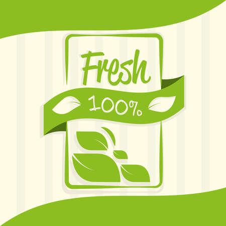 fresh organic product stamp design