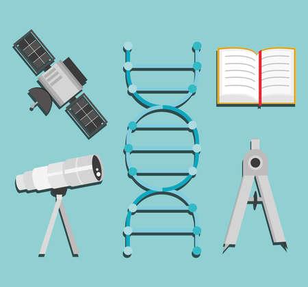 science satellite telescope molecule book