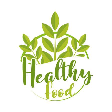 green healthy food organic label