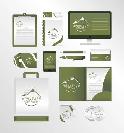 corporate identity stationery for business set