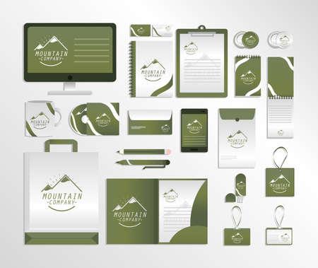 corporate identity creative stationery icons