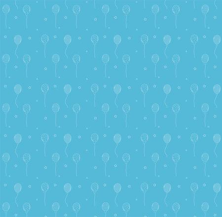 balloons decoration festive blue pattern Иллюстрация