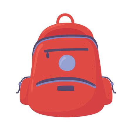 red backpack equipment illustration